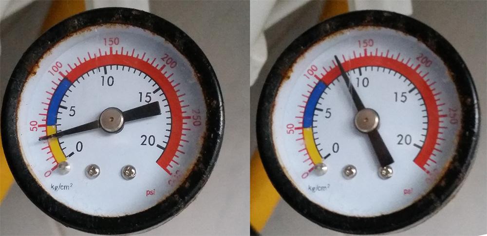 Ciśnienie w filtrze odwróconej osmozy filtr RO Di