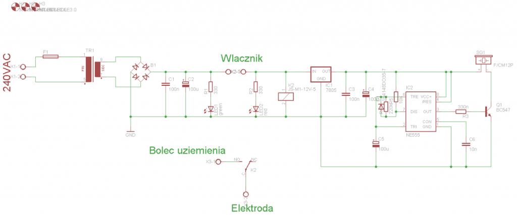 Schemat budowy uziemiacza.